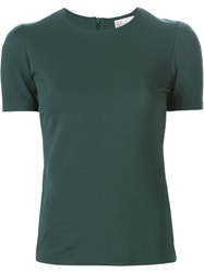 Red Valentino Short Sleeved Top Green