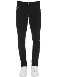 Dsquared 16Cm Sexy Twist Cotton Twill Jeans Black