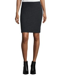 Three Dots Ribbed T Shirt Skirt Charcoal