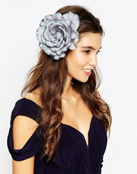 Asos Oversized Rose Multiway Hair Or Body Corsage Grey