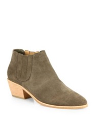 Joie Barlow Suede Ankle Boots Charcoal
