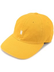 Norse Projects Twill Sports Logo Cap Yellow