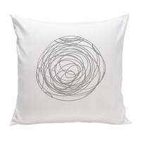 Spot On Square Spun Organic Pillow Grey Gray