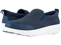 Fitflop Loaff Skate Midnight Navy Slip On Shoes Blue