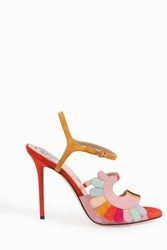 Paula Cademartori Women S Multi Colour Suede Sandals Boutique1 Multicolor
