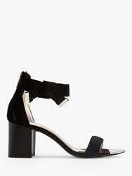 Ted Baker Loopie Suede Block Heel Sandals Black