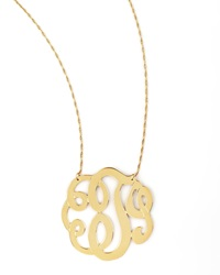 Jennifer Zeuner Jewelry Jennifer Zeuner Swirly Initial Necklace T Gold