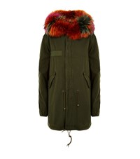 Mr And Mrs Italy Fur Lined Parka Coat Female Green