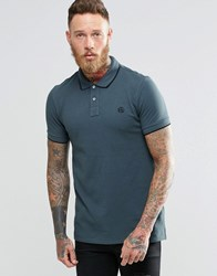 Paul Smith Polo Shirt With Ps Logo In Slim Fit Grey Elephant Grey