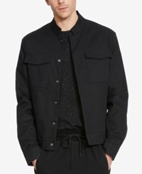 Kenneth Cole Reaction Men's Cropped Military Blazer Black