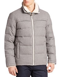 Guess Quilted Down Layer Look Jacket Light Grey