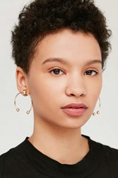 Urban Outfitters Birmingham Statement Post Earring Gold