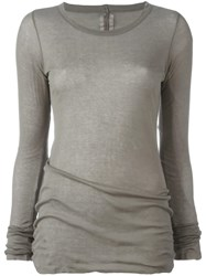 Rick Owens Long Sleeve T Shirt Grey