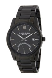 Akribos Xxiv Men's Stainless Steel Bracelet Watch Black