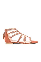 Ale By Alessandra Scalloped Edging Sandals Cognac