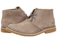 Ugg Leighton Stone Leather Men's Dress Lace Up Boots Taupe