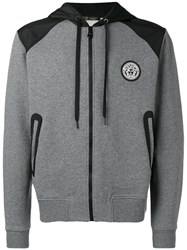 Versace Logo Hooded Sweatshirt Grey