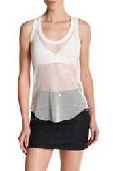Zadig And Voltaire Weep Fishnet Tank White
