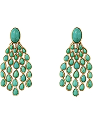 Aurelie Bidermann 'Cherokee' Turquoise Clip On Earrings Blue