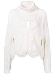 Antonio Berardi Cut Out Detail Sweater White