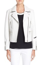 Rag And Bone Women's Rag And Bone 'Arrow' Leather Jacket White