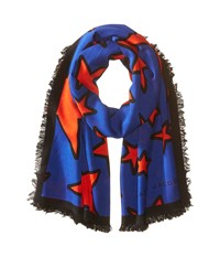 Marc Jacobs Stars Stole Bright Blue Multi Scarves