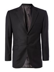 Howick Ford Fine Herringbone Suit Jacket Black