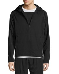 Atm Anthony Thomas Melillo Hooded Anorak Pullover Black