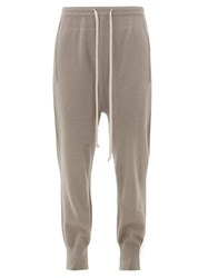 Rick Owens Boiled Cashmere Track Pants Grey