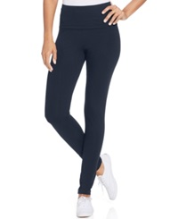 Style And Co. Sport Tummy Control Active Leggings Only At Macy's Industrial Blue