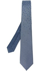 Bulgari Sailboat Print Tie Blue