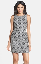 Erin Erin Fetherston 'Winnie' Jacquard Bow Back Dress Black Ivory