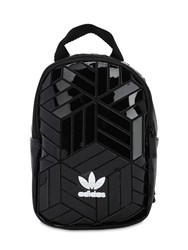 Adidas Mini Faux Patent Leather Backpack Black