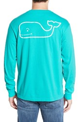 Men's Vineyard Vines Pocket Long Sleeve T Shirt Aquinnah Aqua