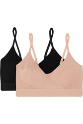 Baserange Set Of Two Stretch Bamboo Soft Cup Bras Black
