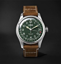Oris Big Crown D.26 286 Hb Rag Limited Edition Automatic 40Mm Stainless Steel And Leather Watch Green