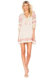 Spell And The Gypsy Collective Cleo Tunic Dress Beige