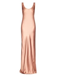 Galvan Bias Cut Silk Satin Gown Pink
