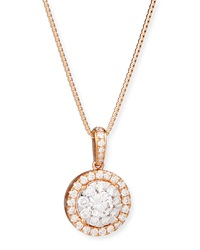 Bouquet 18K Rose Gold Diamond Pendant Necklace Memoire