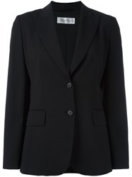 Max Mara Two Button Blazer Black