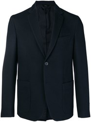 Fendi Single Breasted Blazer Blue