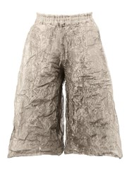 Toogood Stainless Steel The Boxer Long Clay Trousers Metallic