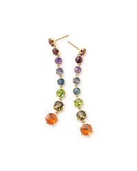 Ippolita 18K Rock Candy Dangle Earrings Fall Rainbow