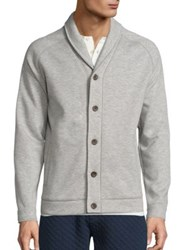 Surfside Supply Heathered Button Front Cardigan Heather Grey