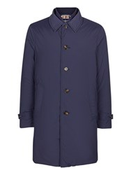 Aquascutum London Harding Showerproof Padded Raincoat Navy