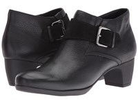 Softwalk Imlay Black Veg Tumbled Leather Cow Suede Women's Boots