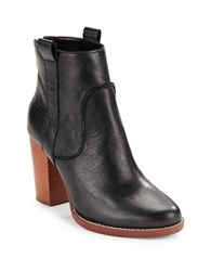 French Connection Avabba Textured Leather Boots Black