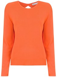 Spacenk Nk Cut Out Detail Knit Blouse Yellow And Orange