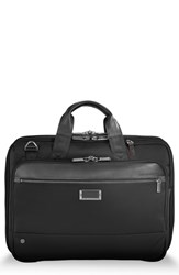 Briggs And Riley Work Expandable Briefcase Black