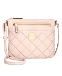 Tignanello Stitched Crisscross Showstopper Crossbody Light Rose